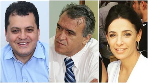 Agenor Mariano, Jorcelino Braga e Ana Paula Rezende: na linha de frente da campanha do peemedebisa Iris Rezende