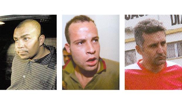 """Ivan """"Monstro"""" Rodrigues, Rodolfo """"Bozinho"""" Rodrigues dos Santos e Marcos Bispo dos Santos, o Marquinhos:  integrantes da quadrilha da favela Pantanal, em São Paulo, que participaram do sequestro do prefeito Celso Daniel"""