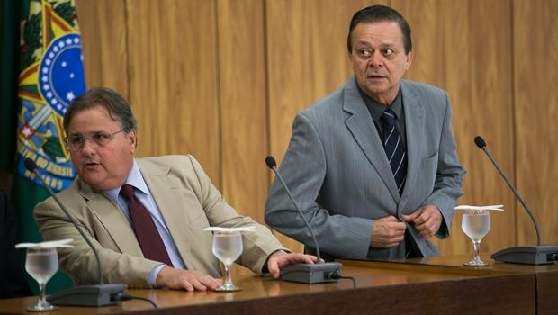 O ex-ministro Geddel Vieira Lima e o deputado goiano Jovair Arantes   Foto: Fabio Rodrigues Pozzebom/Agência Brasil