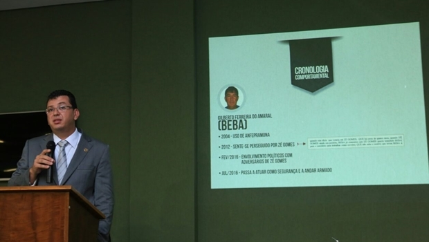 Delegado Douglas Pedrosa apresenta inquérito | Foto: divulgação