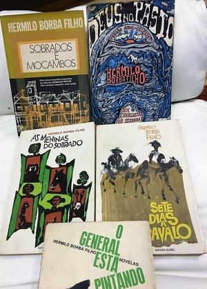Alguns livros de Hermilo Borba Filho da estante deste cronista