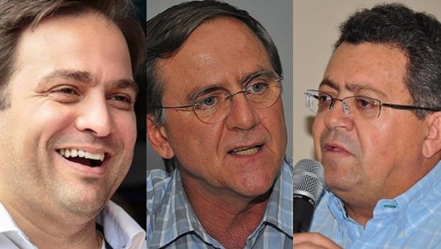 Pré-candidatos eleições 2020 em Anápolis: Roberto Naves, Antônio Gomide e Edson Tavares.