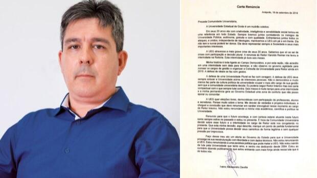 Ivano Devilla renuncia ao cargo de reitor da UEG