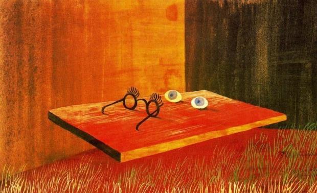Olhos sobre a mesam de Remedios Varo