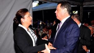 Marconi Perillo prestigia a posse da nova ministra da Agricultura, Kátia Abreu