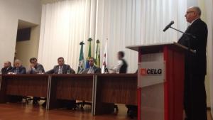 """Em discurso de posse, novo presidente da Celg, Sinval Zaidan, afirma: """"Teremos muito trabalho"""""""
