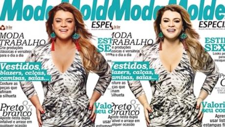 """""""Racismo"""" deixa Preta Gil branca na capa da revista Moda Moldes"""