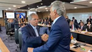 Guedes atende a pedido de Caiado e discute ICMS com governadores