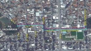 Ciclofaixa permanente de lazer começa a ser implementada em Goiânia
