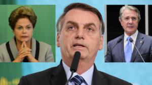 Ao brigar com o Congresso, Bolsonaro repete Dilma e Collor