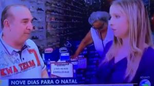 Repórter de afiliada da Globo desmaia ao fazer entrevista