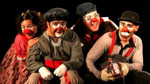 Grupo Imagem reúne quadros miméticos em Clowns-tô-folia, nos palcos do Sesc Centro