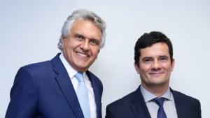 Ronaldo Caiado declara apoio a Sérgio Moro