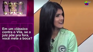 TV Goiânia causa revolta após constranger musa do Goiás com quiz sexual