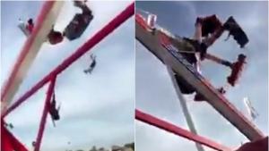 Vídeo chocante mostra pessoas sendo arremessadas de atração em parque dos EUA