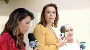 Repórteres se estranham ao vivo e deixam entrevistados em segundo plano