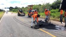 Chuvas atrapalham obras de recuperação em rodovias goianas