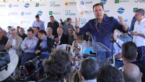Prefeito inaugura novo sistema de tratamento de esgoto em Águas Lindas
