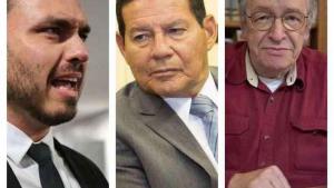 Hamilton Mourão puxa Brasil pra democracia e Bolsonaros-boys puxam pra direitização