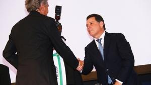 Caiado diz a Marconi que atenderá interesses de Goiás no Senado