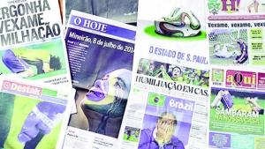 Capas de diários goianos sobre vexame na Copa são elogiadas
