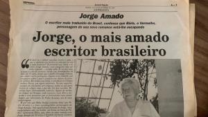 Jorge Amado: entrevista exclusiva ao Jornal Opção