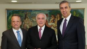 José Eliton e Temer discutem securitização de dívidas e investimentos do governo federal