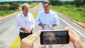 Marconi entrega pavimentação da GO-32 em Bacilândia, distrito de Fazenda Nova