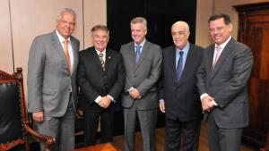 Marconi e Rollemberg se reúnem com ministro para pedir controle da gestão do transporte público no Entorno