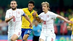 Em partida insossa, Brasil vence Sérvia por 1 a 0