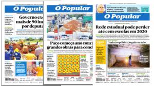 Com Superedição, O Popular diminui o número de páginas no fim de semana