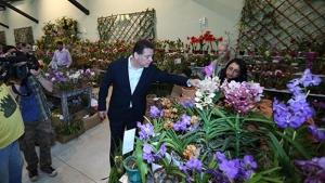 Marconi inaugura Palácio das Orquídeas, em Piracanjuba