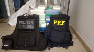 PF e PRF apreendem carga de droga em Goiás avaliada em R$ 2 milhões