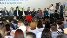 """""""Vamos resolver definitivamente o problema da água na cidade"""", diz Roberto Naves sobre novo contrato com a Saneago"""
