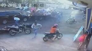 Vídeo de câmera de segurança mostra momento de desespero durante atentado em Itumbiara