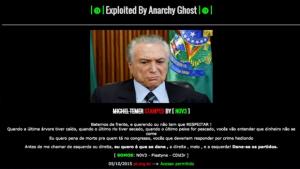 Site pessoal do presidente Michel Temer é alvo de hackers