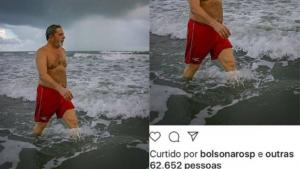Eduardo Bolsonaro curte foto de Lula sem camisa e causa furor