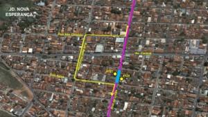 Rua do Jardim Nova Esperança, em Goiânia, fica interditada devido a evento religioso