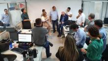 Secretária da Economia se reúne com servidores da Delegacia de Fiscalização de Goiânia