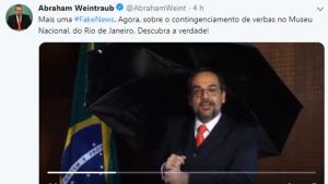 Ministro da Educação grava vídeo ironizando suposta 'fake news' contra o Mec
