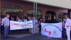 Credenciados ao Imas fazem protesto e cobram pagamento de salário atrasado