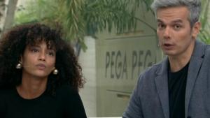 Taís Araújo faz a alegria da internet após 'cortada' em Otaviano Costa no Vídeo Show