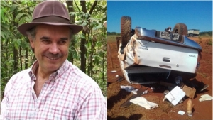 Humorista Tom Carvalho, da dupla com Nilton Pinto, sofre acidente de carro em Goiás