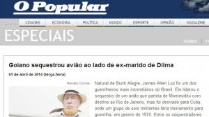 O Popular confunde Tarzan de Castro com Hugo Brockes e publica fotografia e legenda erradas