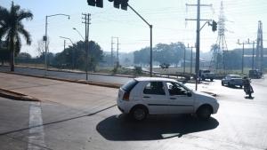 Após asfalto ceder, Marginal Botafogo fica interditada durante fim de semana