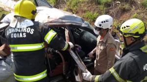 Acidente na GO-080 deixa um morto e duas vítimas em estado grave