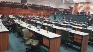 Cerimônia de posse e eleição da nova Mesa Diretora da Alego reúne autoridades goianas