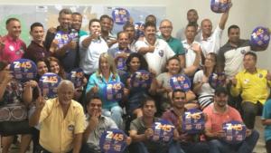 Em Aparecida, lideranças de partido da base de Caiado declaram apoio a Eliton