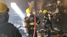 Bombeiros combatem incêndio em churrascaria desativada nas proximidades do shopping Flamboyant