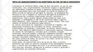 IML de Belo Horizonte elogia trabalho da Polícia Técnico-Científica de Goiás em Brumadinho